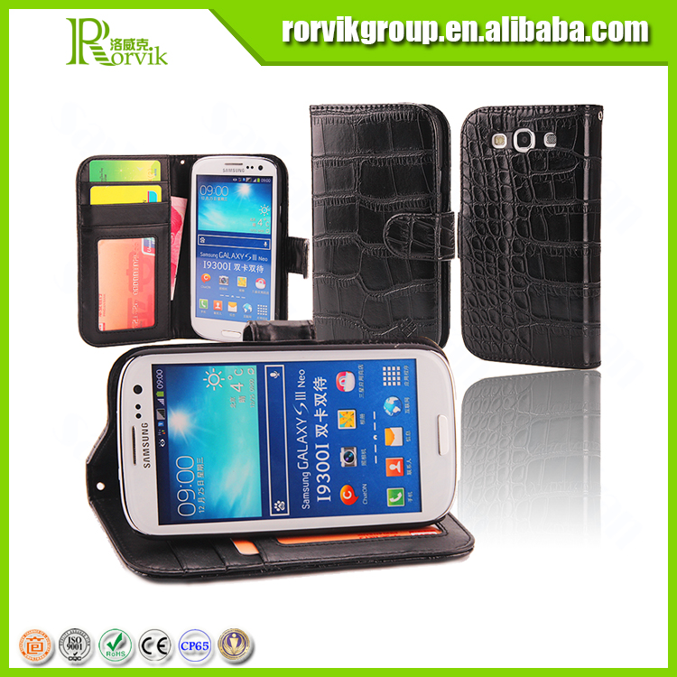 New arrival luxury CROCO soft TPU mobile phone back cover case for samsung galaxy s3