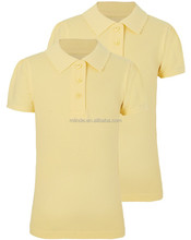 high school Ribbed Collar School Polo Shirts school uniform design