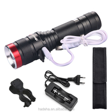 6000LM XML L2 Chips Zoomable USB Rechargeable Torch Light Bike Lamp Lighting Lantern Handy Stepless Dimming LED Flashlight lamp
