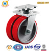 High Quality Iron Caster with 3ton Load Double Wheel Casters