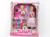 Kids pretend 11 inch solid doll toys plastic wholesale doll beauty set
