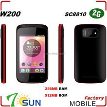 New W200 3.5 inch Capacitive Quad band Touch Screen Mobile smartphone android phone made in china