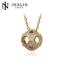 Hot sale crystal ball gold necklace ebay china website N042