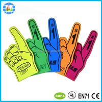 fluorescence eva foam cheering hand for promotion