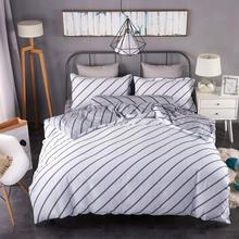 Dual Side Print Cheap Custom Stripe Duvet Cover
