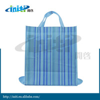 Foldable tote bag with snap closure /Made in china fashion recycle foldable tote bag with snap closure