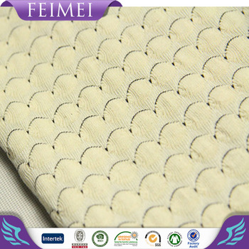 ShaoXing FEIMEI factory CVC fish scale design jacquard fabric for clothing