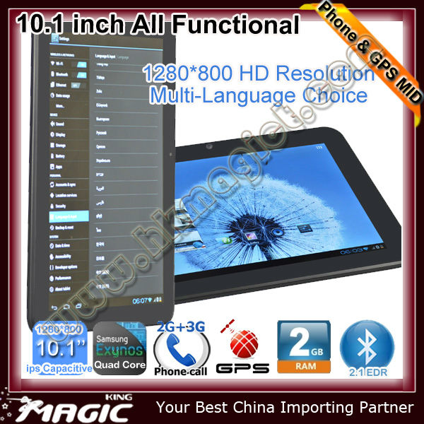 10 inch Tablet PC strong wifi gps function and free map
