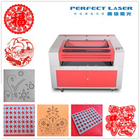 Alibaba China 2015 acrylic / leather / paper / cloth 80W / 100W / 120W / 150W small leather craft laser cutting machine
