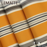 Yellow Outdoor Waterproof 100% Polyester Fabric with Stripe Pattern Price Per Meter