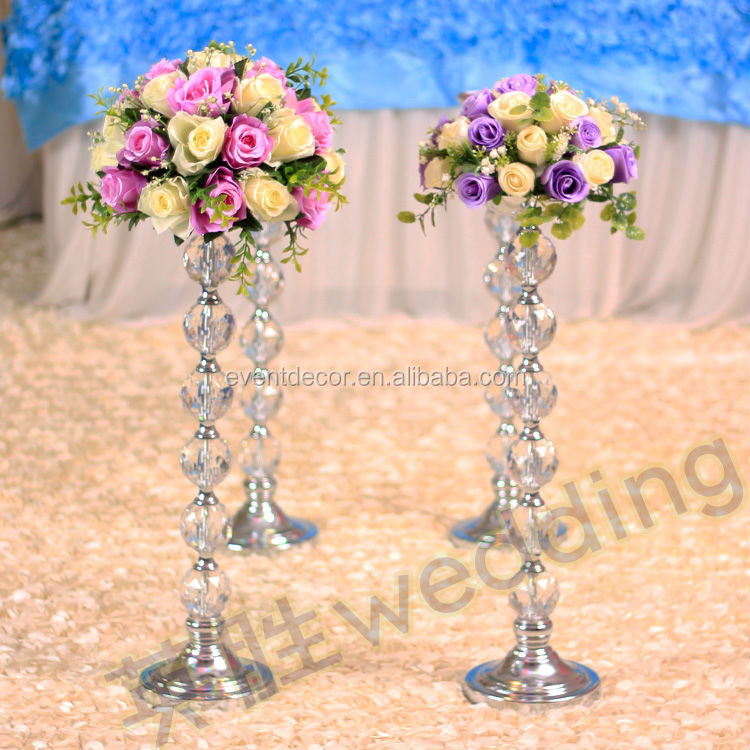 2014 newest product tall acrylic flower stands wedding for Decoration stand
