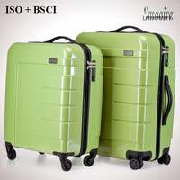 3 pieces set hot sale lightweight royal polo PC luggage trolley