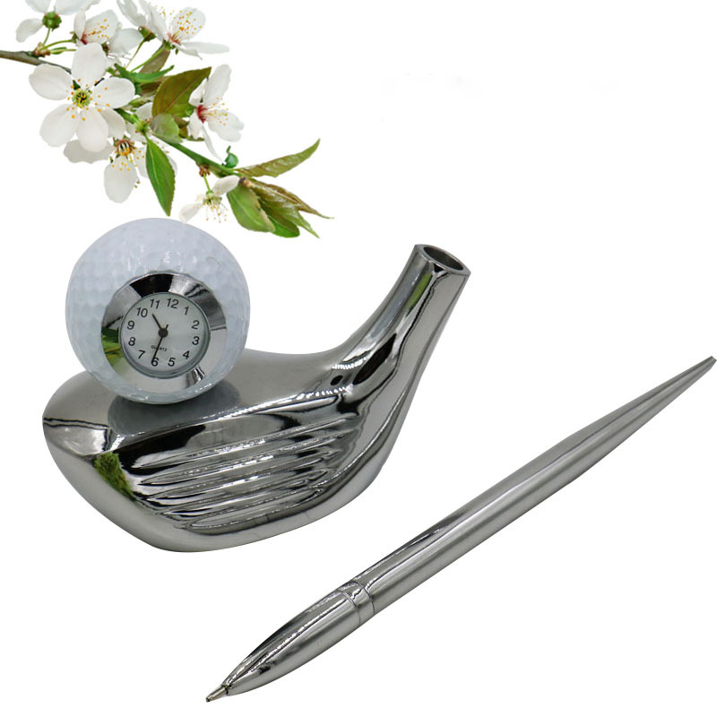 Golf head Pen container clock Business golf gift golf souvenir