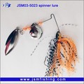 CN Supplier 3D Eyes Lure Spinner Jig Head Fishing Bait
