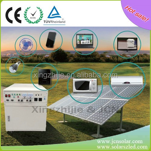JCNS New products solar panels portable 500W mini home solar power generators with inverter