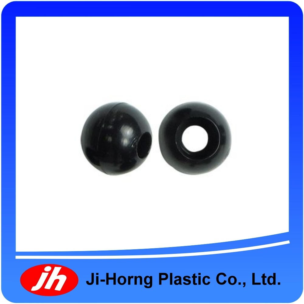 Plastic small black elastic bungee ball cord lock