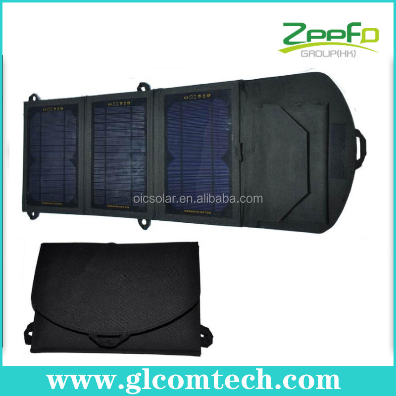 High effecient 11W flexible & foldable solar panel kit with three solar panel
