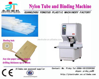 2015 automatic 50mm hot melt plastic tube drilling and binding machine widely used in bank account