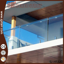 304/316ss handrail glass railing modern banisters for balcony