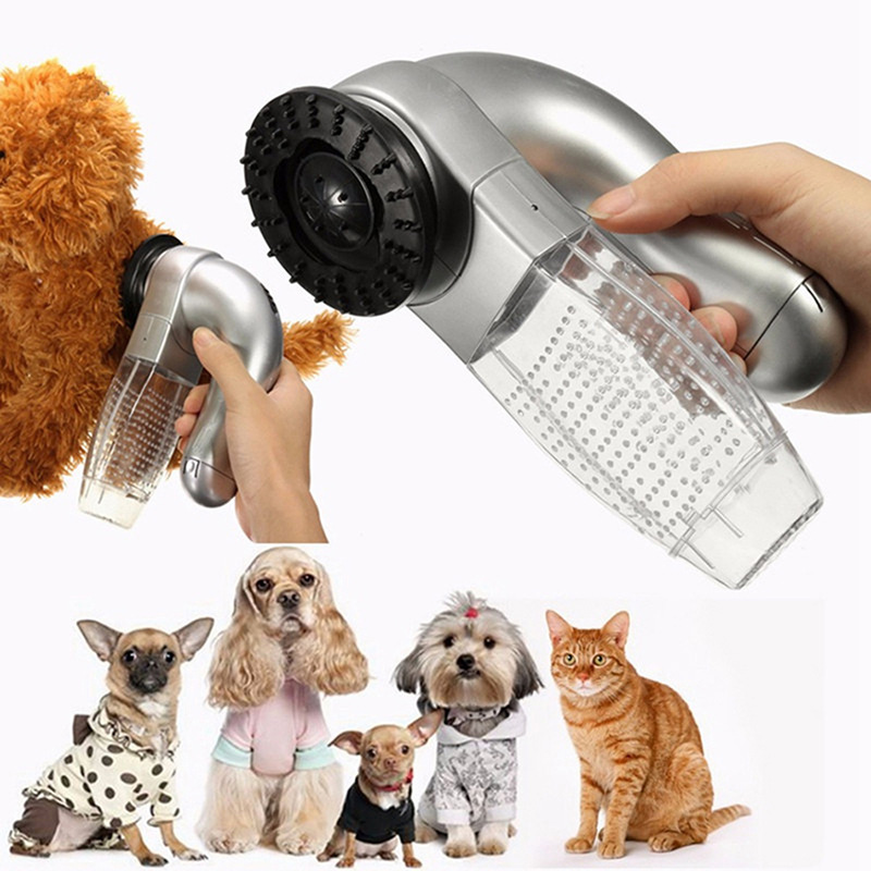 Electric Cat Dog Pet Hair Fur <strong>Remover</strong> Shedd Grooming Brush Comb Vacuum Cleaner Trimmer