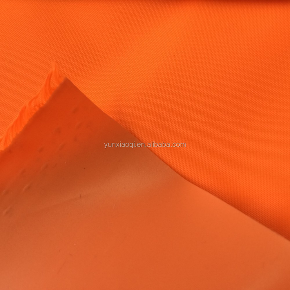 PVC Coated Polyester Taffeta Fabric For Gloves Florescent Yellow