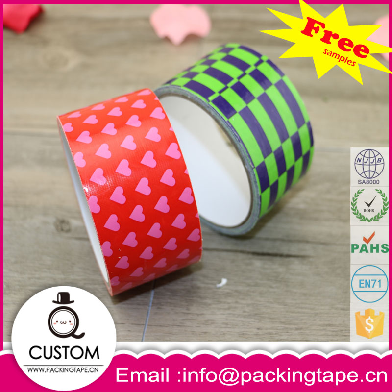 Colorful handcraft customer printed duct tape for repairing