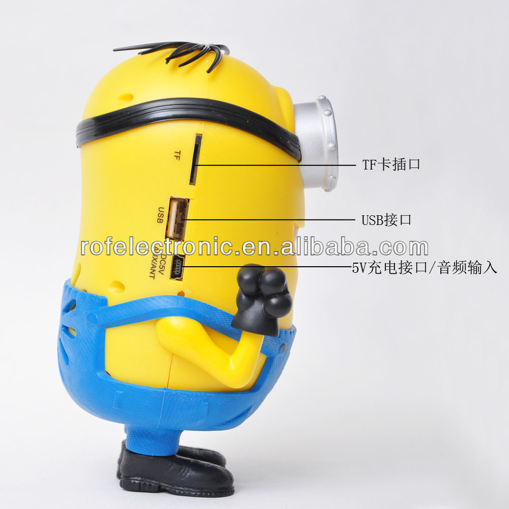 Mini speaker USB Mp3 Player Me 2 Minion Dave Stuart Tim Minions speakers