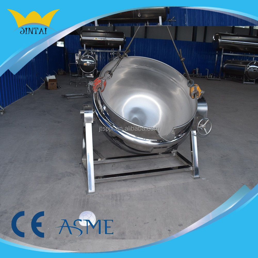 Gas heating tilting jacketed stainless steel jacketed kettle