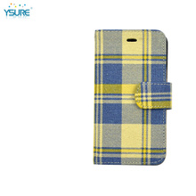 2015 New Trendy Colorful Stripe Pattern Denim Leather Case For BlackBerry Z10 with Card slots and PVC ID slot