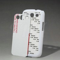 2D Sublimation Hard Plastic Phone Case for Samsung Galaxy s3 i9300 PC material with alu sheet