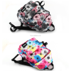China factory flower prints school backpack fashion bag