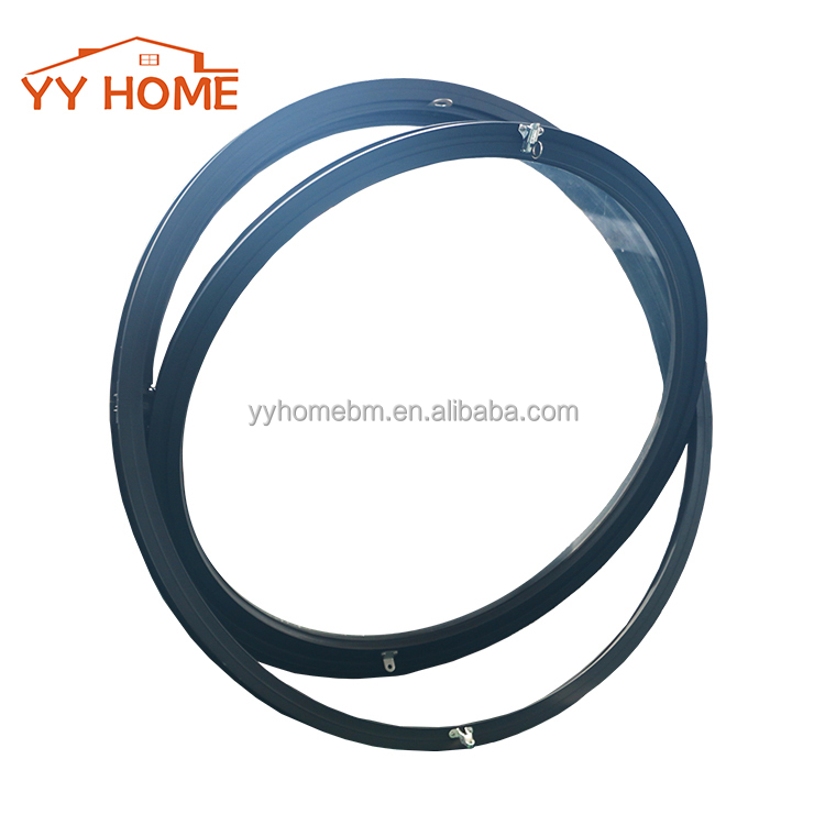 YY Home superb quality double glass pvc frame round window