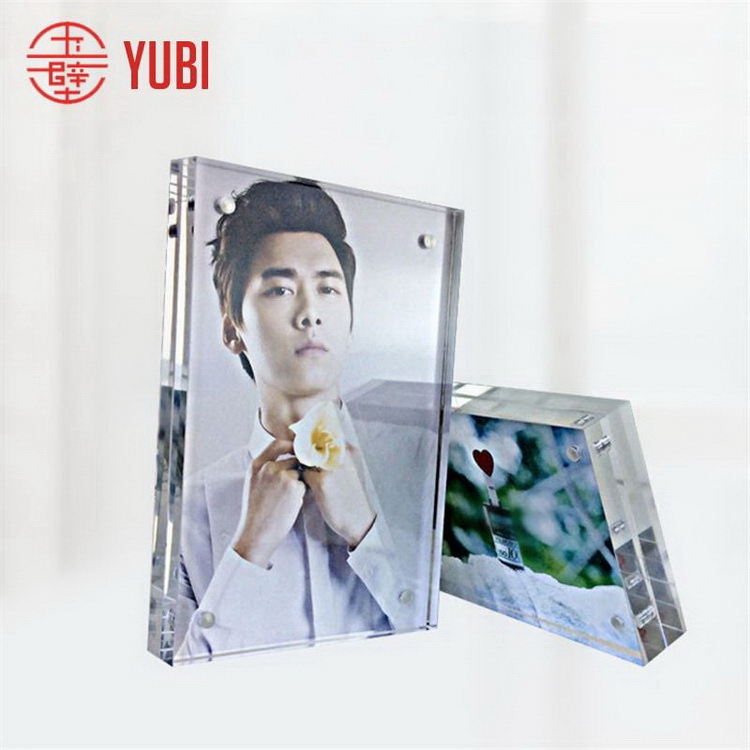 Design best sell packed two sides acrylic photo frame