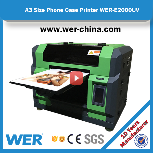 2017 new hot selling A3 small pvc id card printer