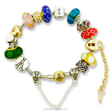 MNP149 2015 Fashion trendy hot jewelry in latest market wholesale charms European beads bracelets