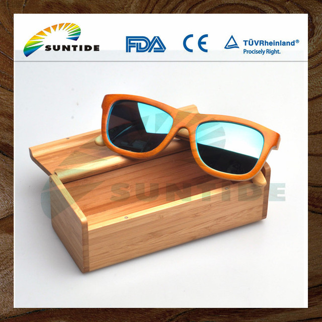 2018 Fashionable cheap bamboo wood sunglasses for sale
