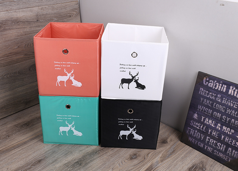 2019 Customized Logo Solid Waterproof Oxford Storage Box in Bulk
