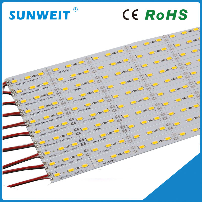 Best price 100cm smd5630 dc12v aluminum rigid led strip with red/green/blue/yellow/rgb/pink/white color options