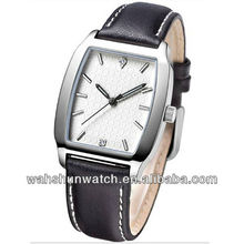 two diamond dial stainless steel square case unisex clock