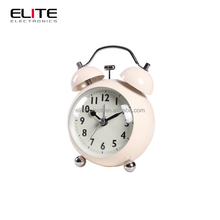 Home decorative twin bell round metal desk alarm clock