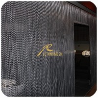 Anping Lutong Metallic shower curtain/metal chain link curtain/metal sliding curtains