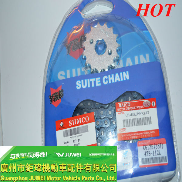 High quality motorcycle sprockets and chains