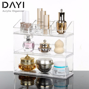 Wholesale Storage Plastic Box Acrylic Clear Cube Cosmetic Organizer