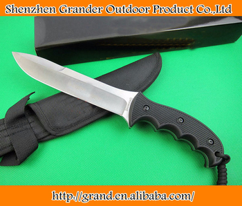 OEM tactical survival knives fixed blade hunting knife outdoor tool hand 5Cr15Mov 57HRC blade ABS handle 1588