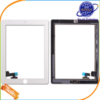 Best price ! for ipad 2 touch screen digitizer glass, touch screen for ipad 2, for ipad 2 digitizer half assembly