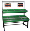 RH-VFDE SECC base Double layer Vegetable & Fruit Rack Display shelf Metal supermarket fruit and vegetable display rack