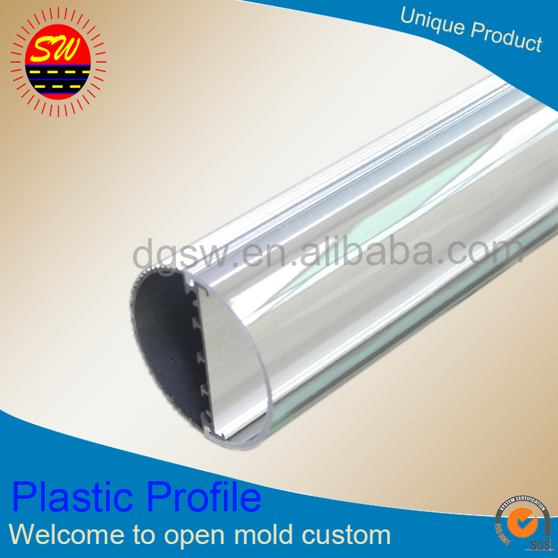 plastic extrusion led lamp cover, Led lamp-chimney led lighting cover, LED tube housing