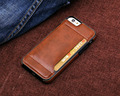 Hot selling hard plastic back stick leather case for iPhone 6, credit card case for iPhone 6