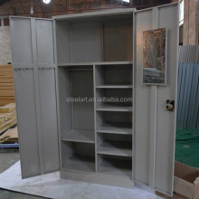 Space save modern design bedroom 2 door wardrobe with mirror
