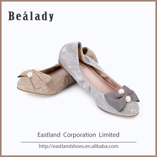 latest fashion soft new age sparkle suede leather ballerinas shoes
